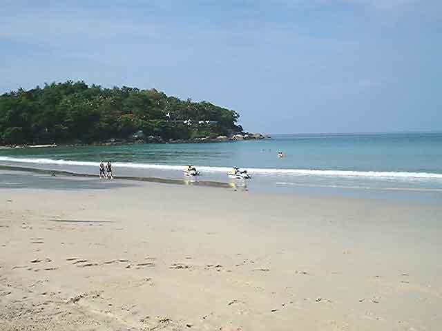 Sunny Day At The Beach. Bright sunny day.